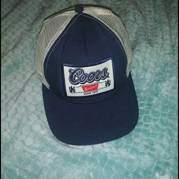 61d26592c Vtg Coors banquet beer trucker cap made USA